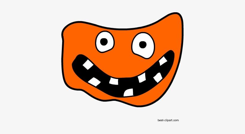 Monster Face Free Halloween Clipart - Halloween, transparent png #272488