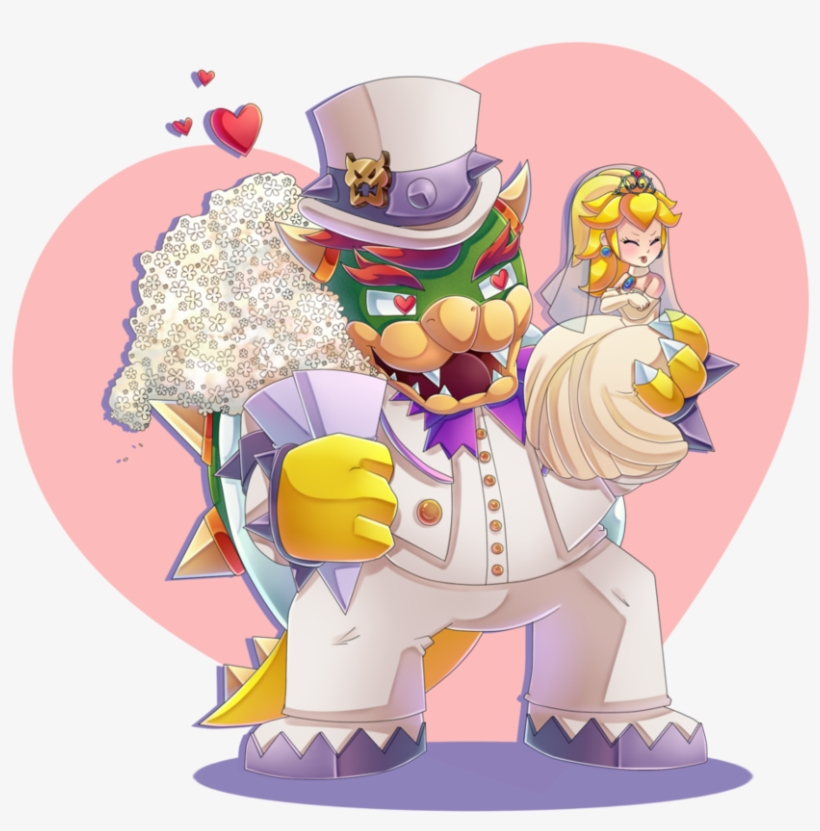 Jpg Library And Peach Wedding Day Speedpaint By Cuteytcat - Princess Peach And Bowser Wedding, transparent png #273519