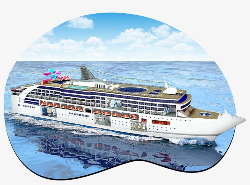 Water Treatment For Marine & Cruise Ships - Cruise Ship In Water, transparent png #273562