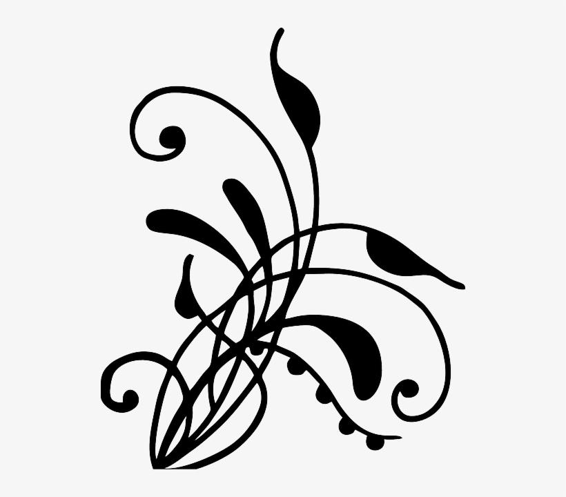 Henna, Vines, Swirl, Artwork, Silhouette, Digital Art - Vines Silhouette Png, transparent png #274397