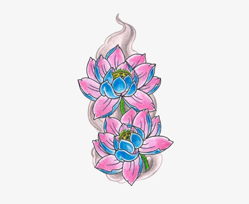 Lotus Tattoos Resolution - Lotus Flower Tattoo Flash, transparent png #274780