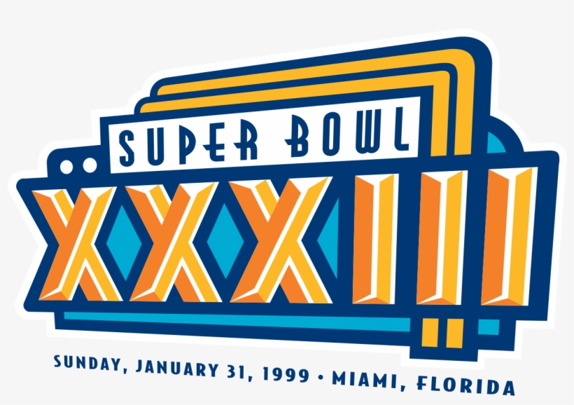 Super Bowl Xxxii - Super Bowl Xxxiii Logo, transparent png #274890