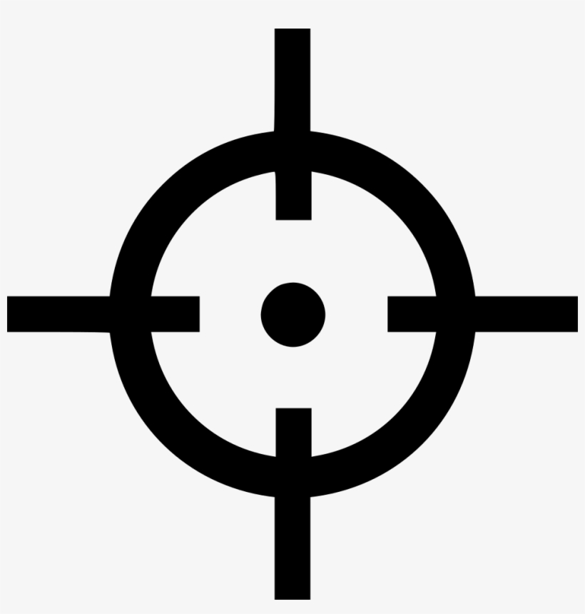 Game Play Cursor Pointer Shooter Comments - Target Icon Png