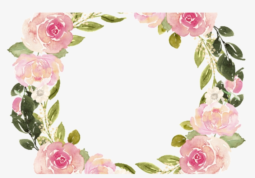 Clipart Resolution 1368*855 - Watercolor Floral Wreath Png, transparent png #275784