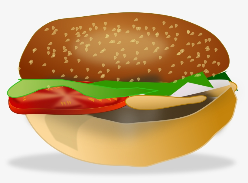 Cheeseburger Hamburger Fast Food Veggie Burger Clip - Sandwich Model, transparent png #275842