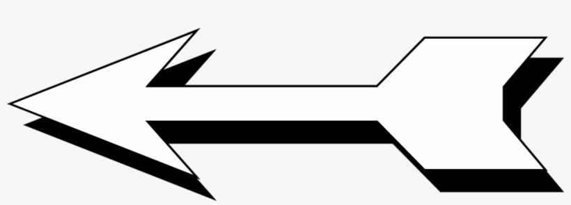 Arrow black and white. Free stock photo illustration