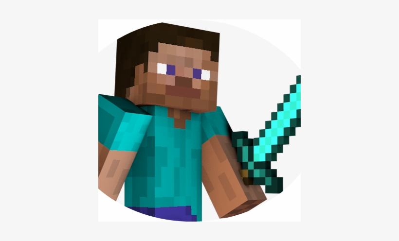 Minecraft Steve With Diamond Sword Free Transparent Png Download Pngkey