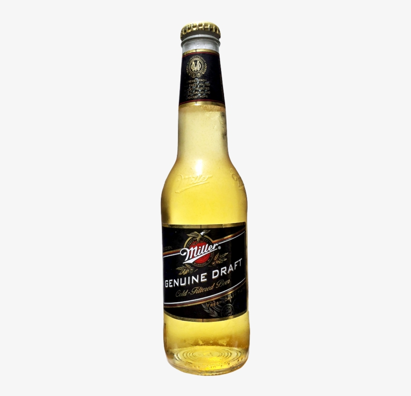 Miller Genuine Draft Bottle - Miller Genuine Draft, transparent png #279126