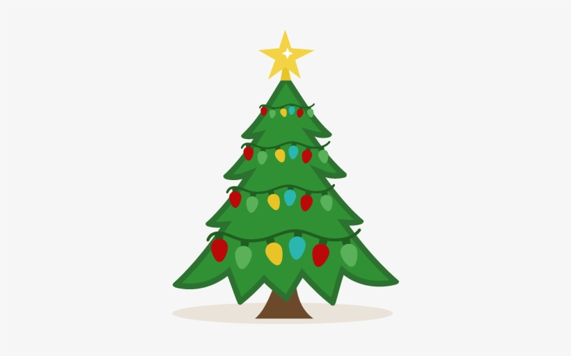 Pretty Clipart Christmas Tree - Simple Christmas Tree Clipart, transparent png #279560