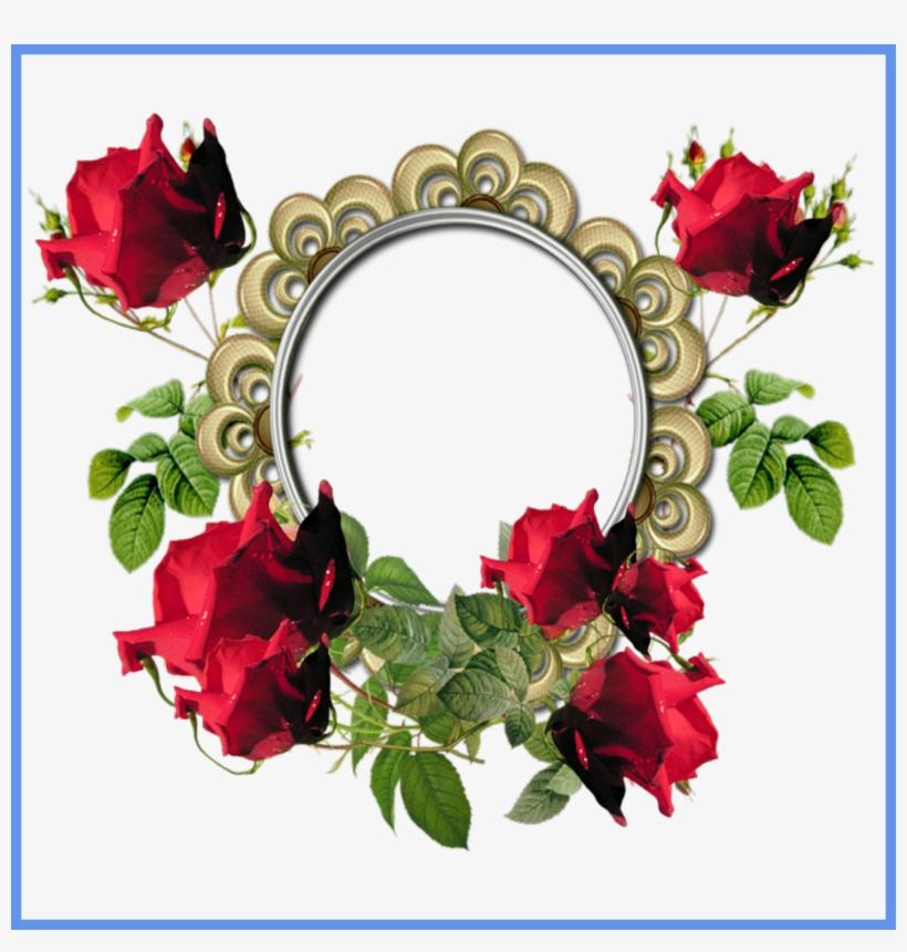 Incredible Pink Scrapbook Style Border Photo Frame - Rose Flower Photo Frame, transparent png #2700613