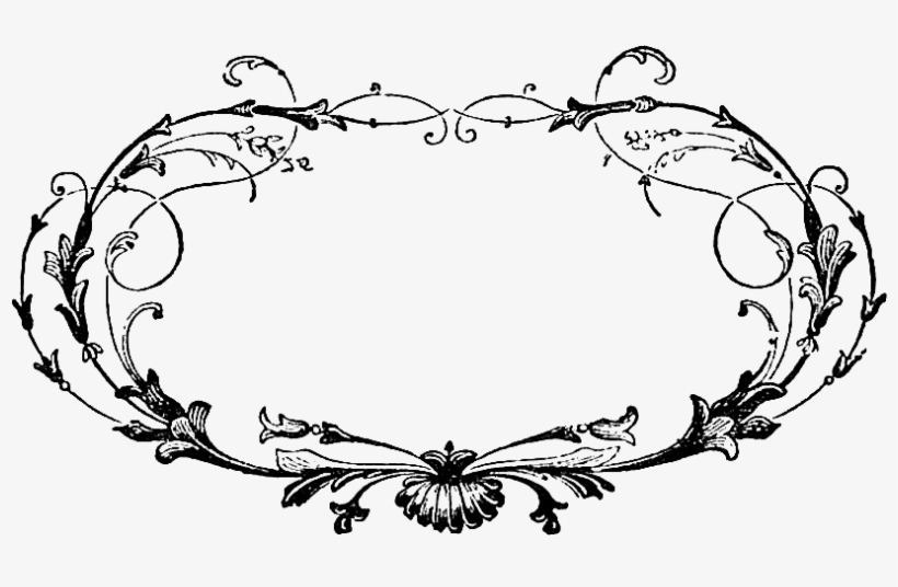 Digital Stamp I Created From An Antique Illustration - Circle Scroll Frame Png, transparent png #2700640