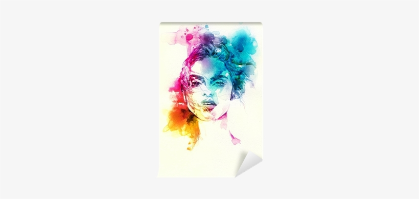 Woman Portrait - Abstract Watercolor Painting Face, transparent png #2703418