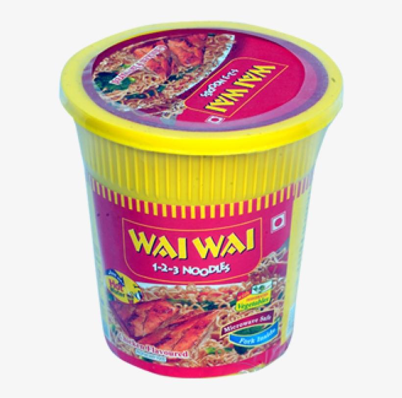 Wai Wai 1 2 3 Noodles Chicken Flavour, transparent png #2703503
