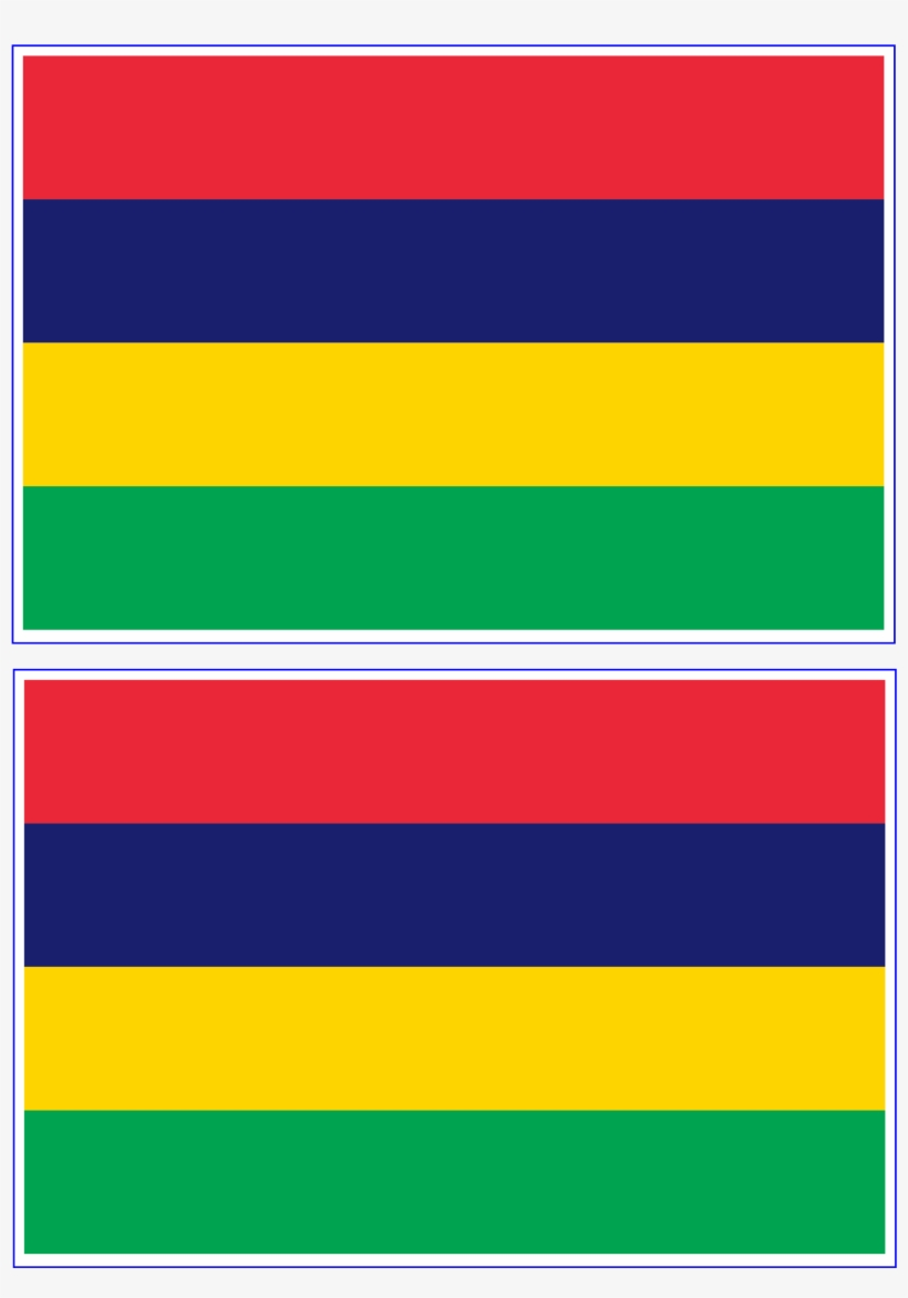 graphic regarding Printable Cubs W Flag identified as Obtain This No cost Printable Mauritius Template A4 - Flag Of