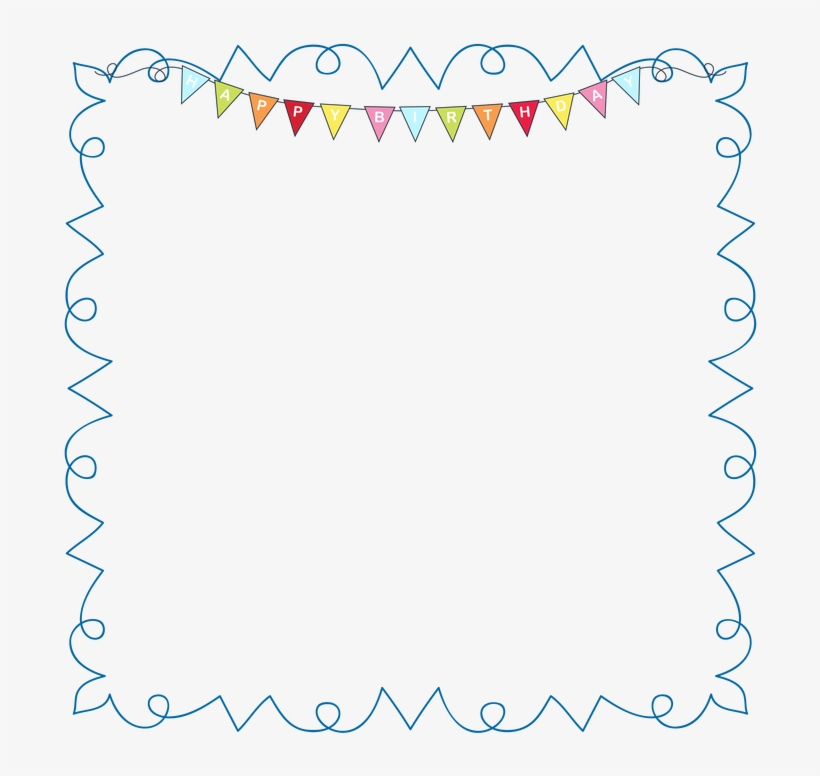Clipart Birthday Picture Frame - Confetti Frame Clip Art, transparent png #2705864