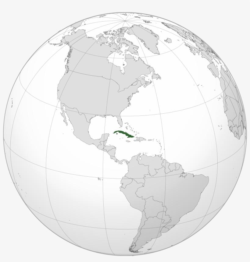 Location Of The Cuba In The World Map - Ubicacion De Cuba En ...