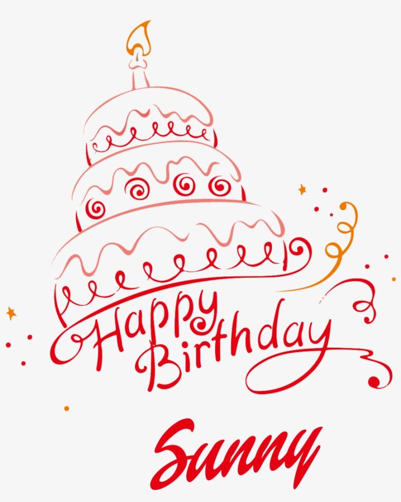 Sunny Happy Birthday Vector Cake Name Png Names - Happy Birthday