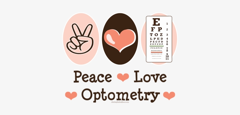 Peace Love Optometry Optometry Humor, Optometry Office, - Love For Badminton Quotes, transparent png #2708061