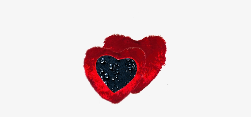 Dark Water Drop Heart Shape Red Cushion - Water Drop Heart Shape, transparent png #2711261