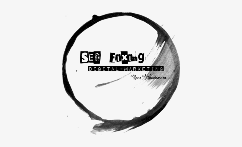 @seofixing Seo Fixing New Logo Created By Https - Brush Stroke Circle Grey Png, transparent png #2711725