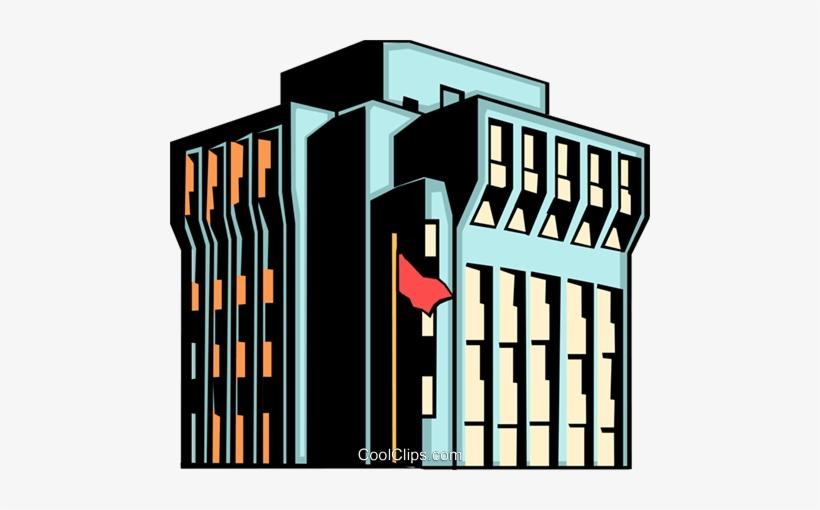 Office Building Royalty Free Vector Clip Art Illustration - Building Clipart, transparent png #2711913