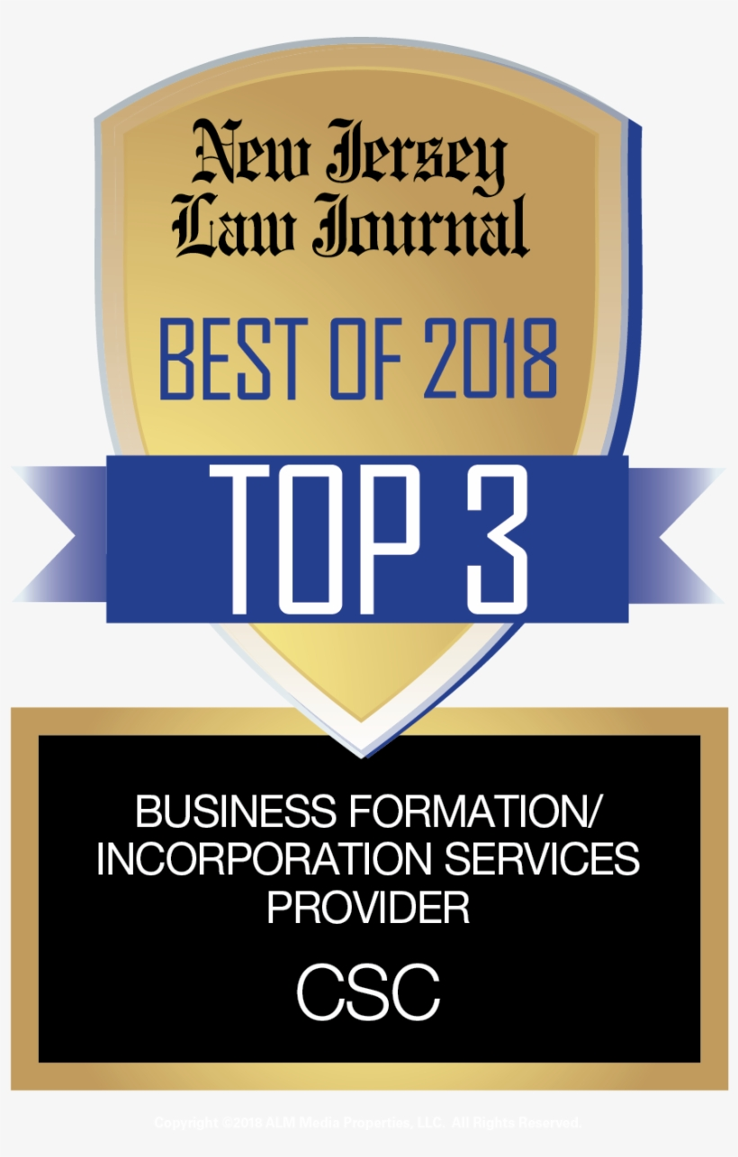 Csc Ranked In The Top Three For Best Business Formation/incorporation - Business, transparent png #2714644