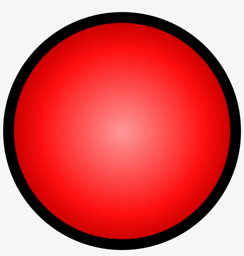 Open - Red Circle Black Outline, transparent png #2716301