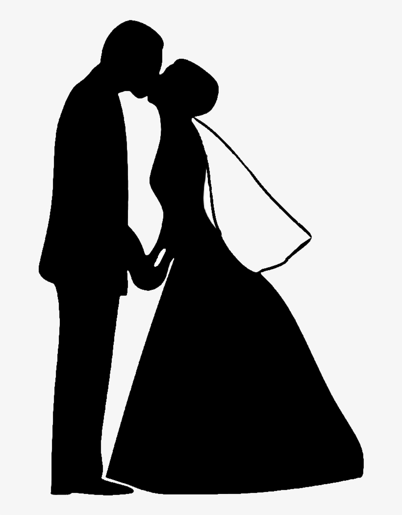 Free Bride And Groom Silhouette Png Wedding Dance Clipart Black And White Free Transparent Png Download Pngkey