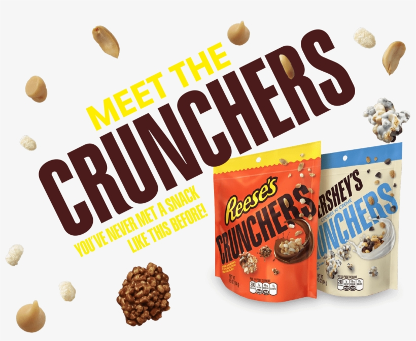 New Hershey's Cookies N' Crème Crunchers & Reese's - Hershey Cookies And Creme Crunchers, transparent png #2717175