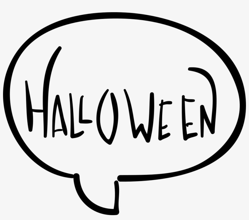Halloween Chat Speech Bubble - Speech Bubbles Halloween, transparent png #2719884