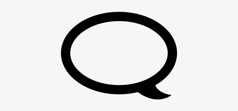 Speech Bubble Outline Vector - Instagram Comment Bubble Icon, transparent png #2719954
