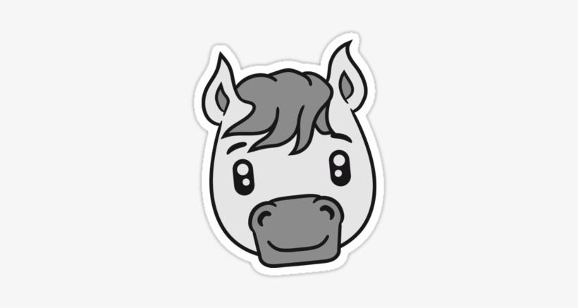 Unique Cartoon Horse Face Face Head Sweet Cute Sitting Cute Horse