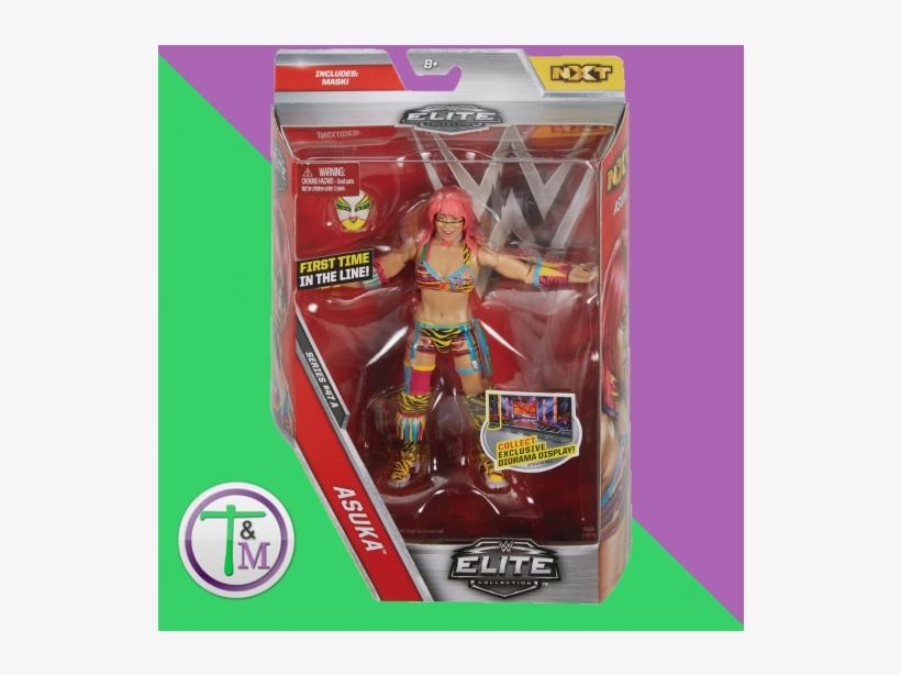 Wwe Asuka - Elite 47 Toy Wrestling Action Figure, transparent png #2725946