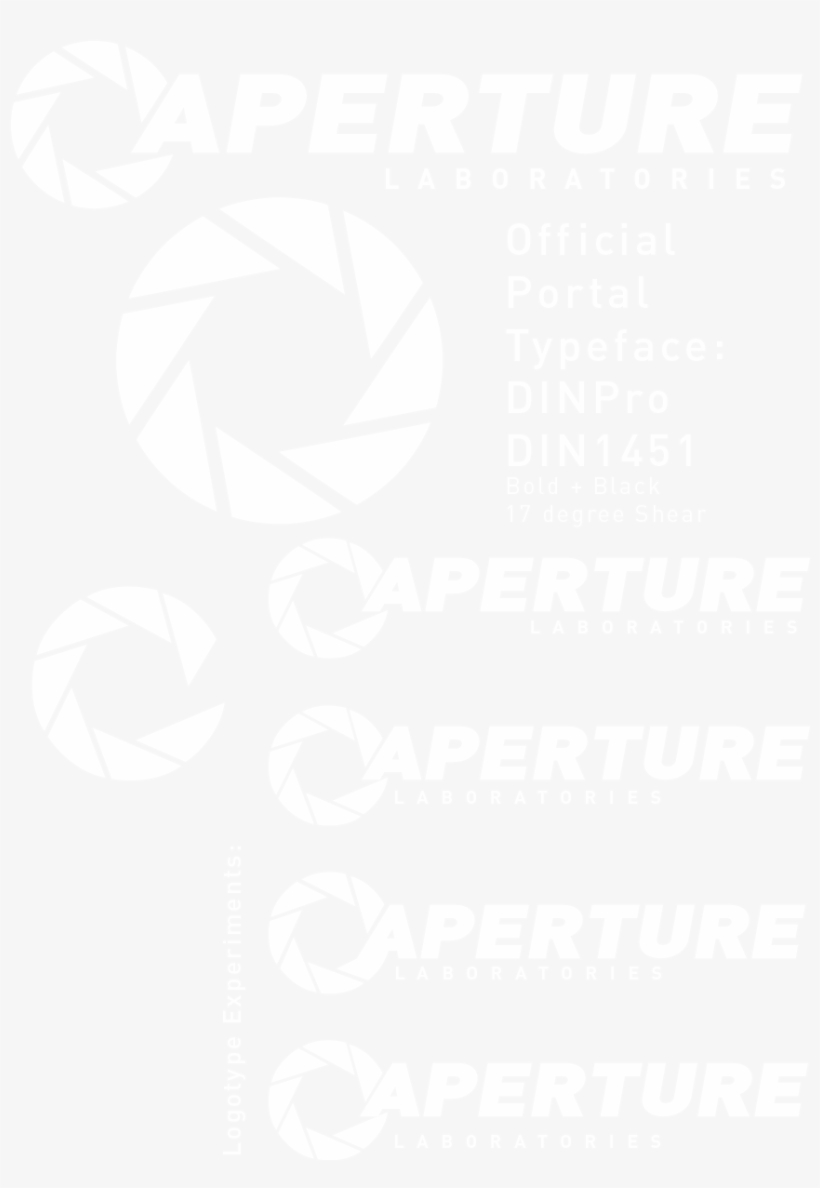 Transparent Aperture Laboratories Logo Aperture Science Innovators Font