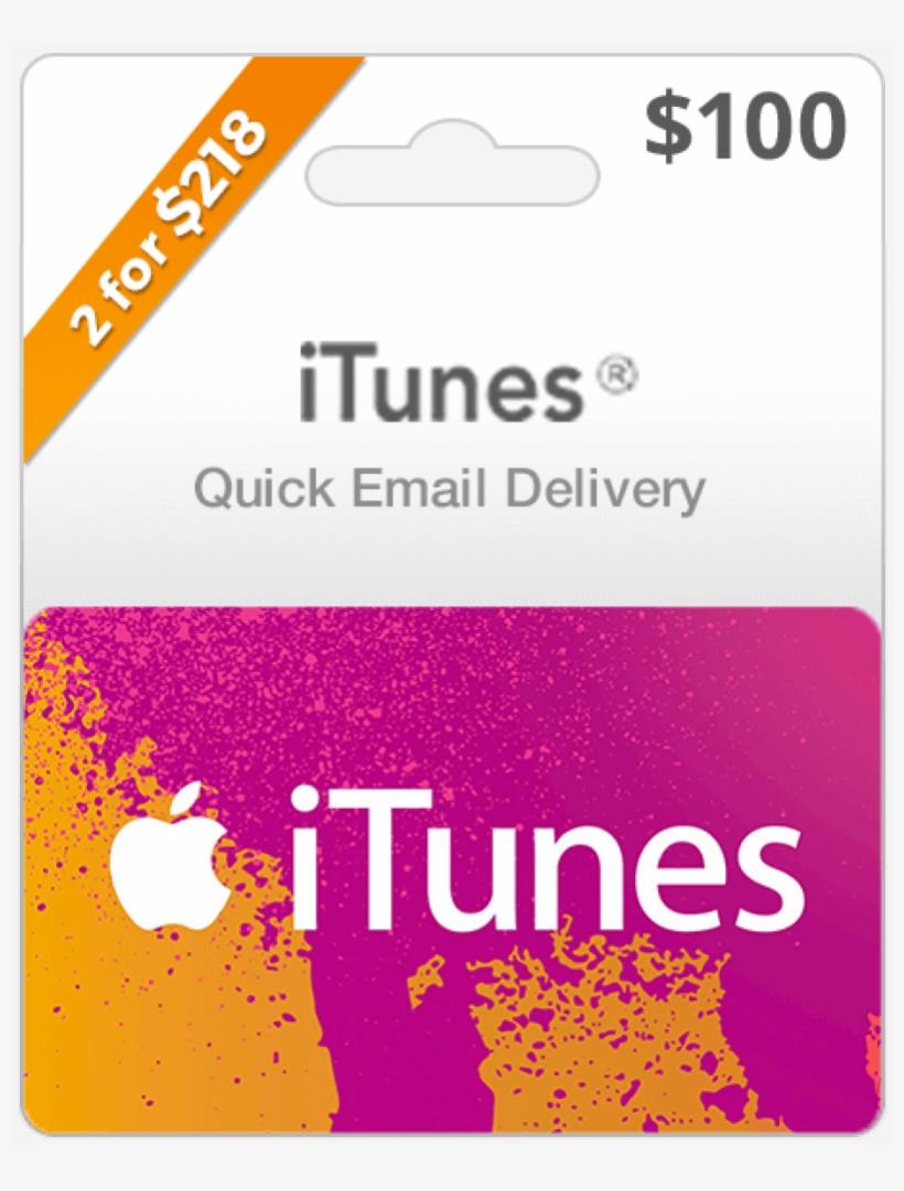 $100 Usa Itunes Gift Card - Apple Itunes Card 100$, transparent png #2730275