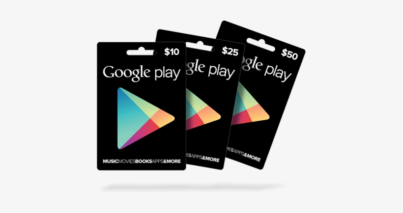 Google Play Gift Codes - Google Play Card Sizes, transparent png #2730566