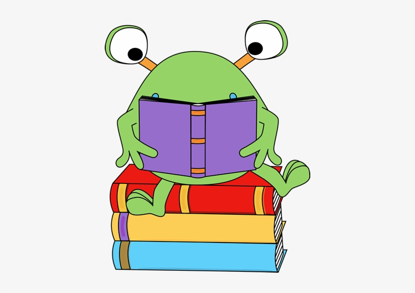 Two-eyed Monster Reading A Book Clip Art - Monster Reading Clipart, transparent png #2734428