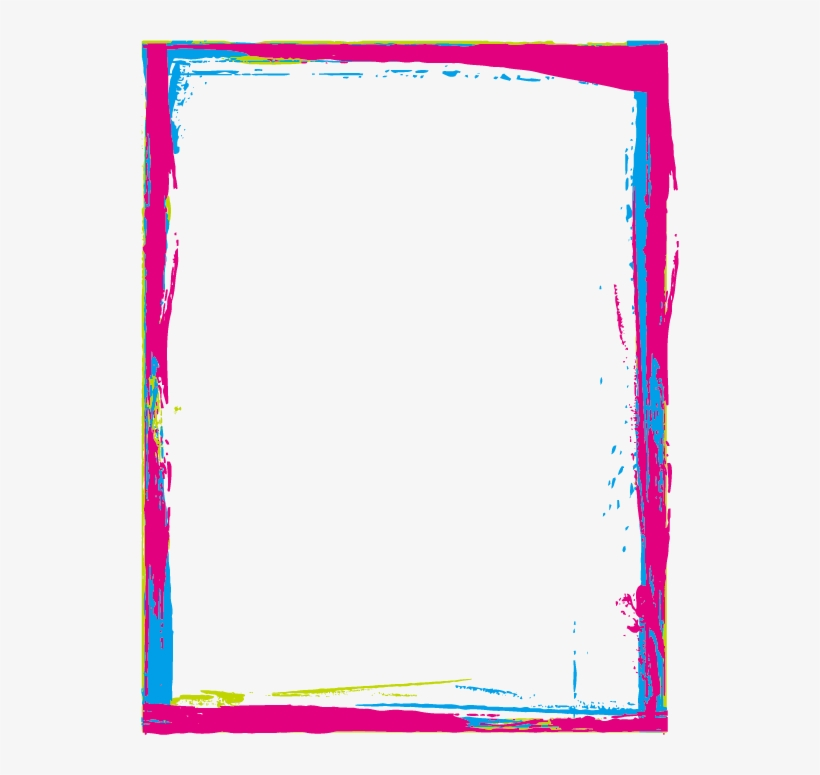 Colorful Borders Frames Paint - Colorful Borders And Frames, transparent png #2736334