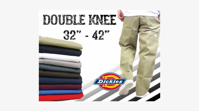 Dickies Men's Loose Fit Double Knee Work Pant, transparent png #2736431