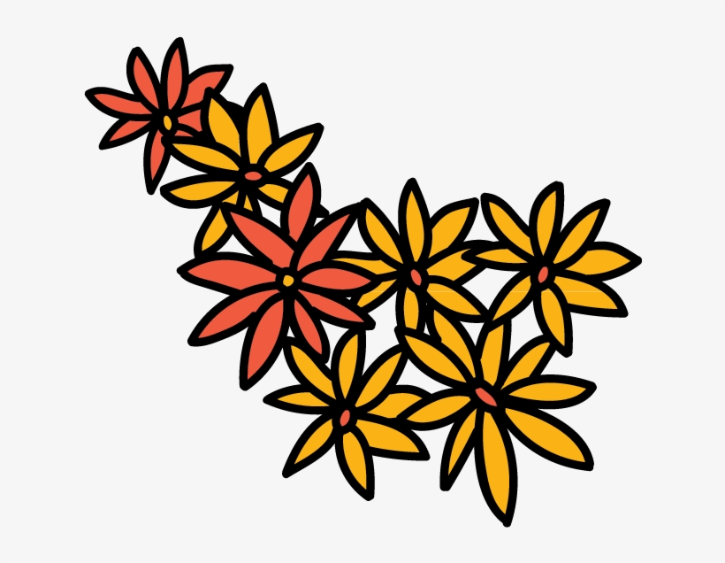 Dead Flower Clip Art - Day Of The Dead Flowers Png, transparent png #2743304