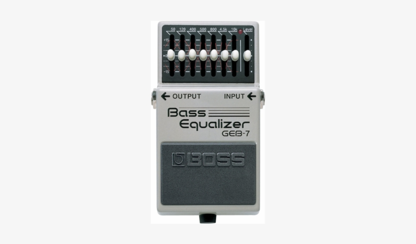 Boss Geb-7 7 Band Bass Eq - Boss Boss Geb-7 Bass Graphic Eq Equalizer Pedal, transparent png #2743423