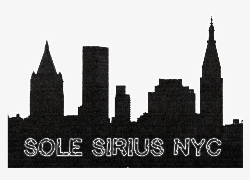 Solebanner1 - New York Skyline Silhouette, transparent png #2743843