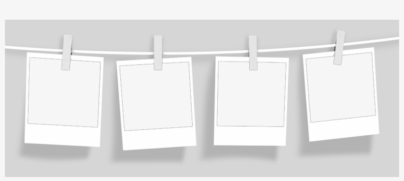 Polaro#overlay - String Of Blank Polaroid Pictures Transparent, transparent png #2745592