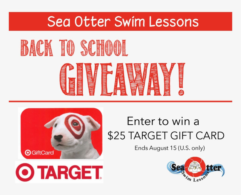 Sea Otter Back To School Giveaway Win A $25 Target - Bps Gift Certificate For Target, transparent png #2749850