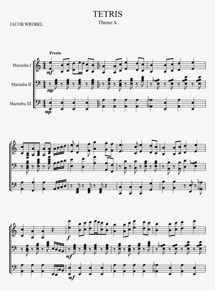 Tetris Sheet Music 1 Of 6 Pages Nocturne French Horn Sheet