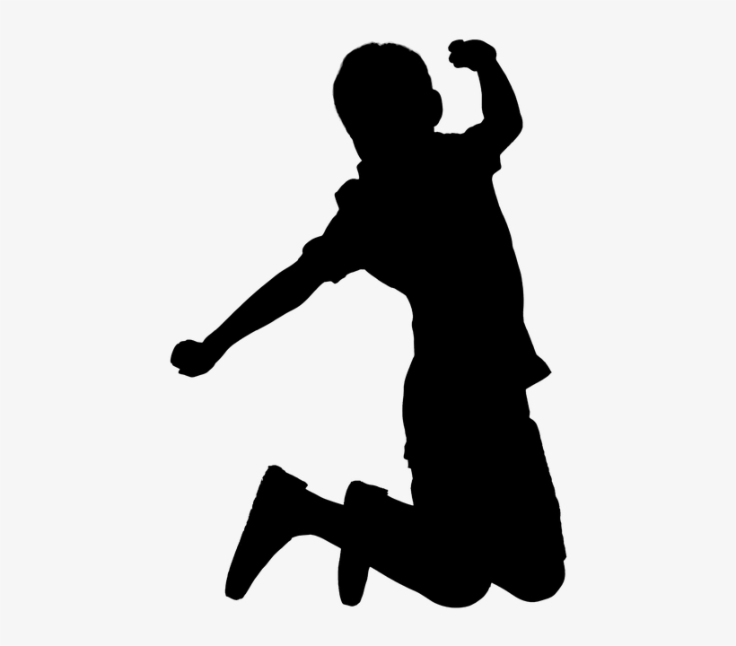 Jumping, Kids, Child, Silhouette, Happy - Transparent Kids Silhouette, transparent png #2754757