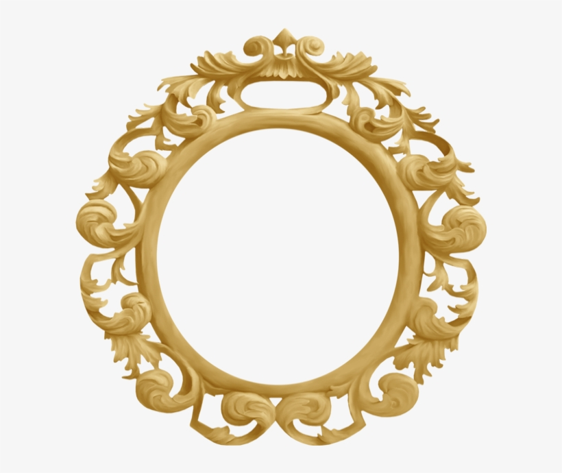 Cadre Rond Baroque - Cadre Rond Png, transparent png #2755806