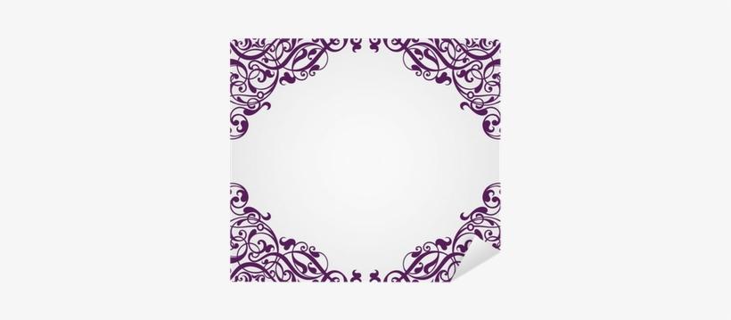 Vector Vintage Baroque Frame Corner Ornate Sticker - Shutterstock