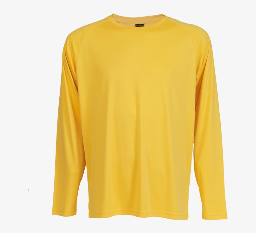 Tsl135b 135g Long Sleeve Polyester T-shirt , Tsl135b - Long-sleeved T-shirt, transparent png #2756945