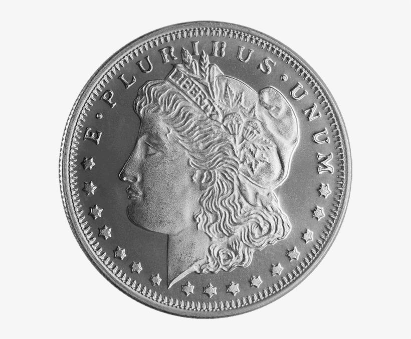 1/2 Oz Silver Round Morgan - Top 10 Morgan Silver Rounds, transparent png #2756995